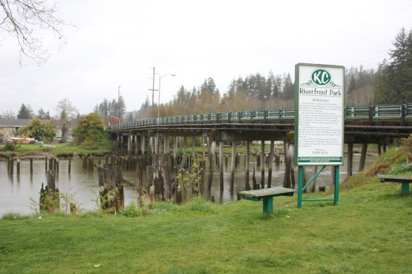 The Second Street Bridge over the Wishkah River, where Kurt Cobain would spend time.