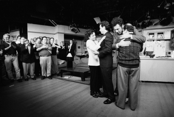 The Seinfeld crew during the final days of shooting. Via huffpostTV.